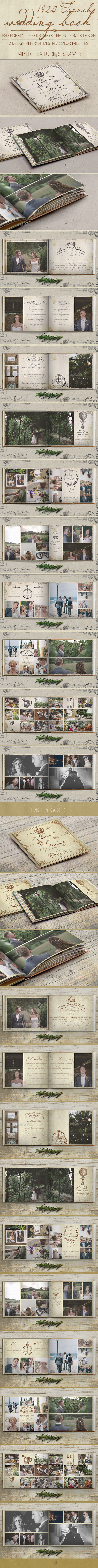 1920 French Wedding Book - Photo Albums Print Templates