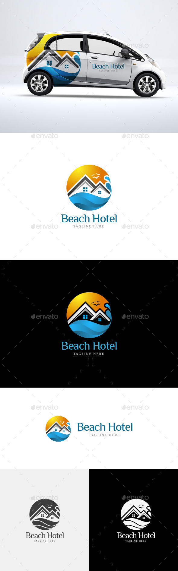 Beach Hotel - Logo Template - Logo Templates