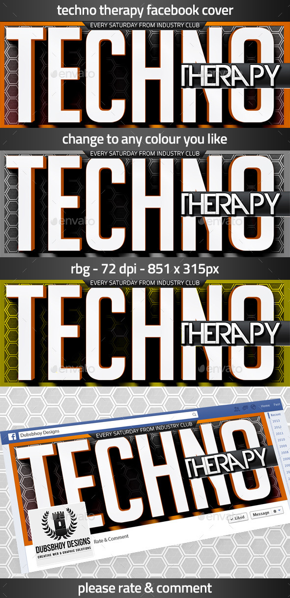 Techno Facebook Cover - Facebook Timeline Covers Social Media