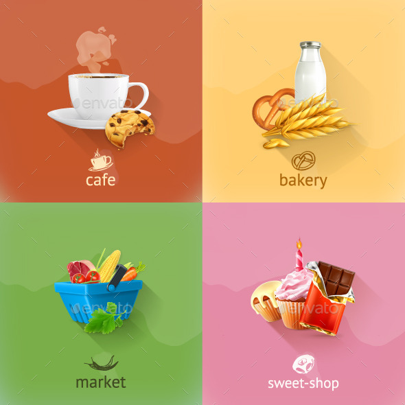 Food Shopping Concept  - Food Objects