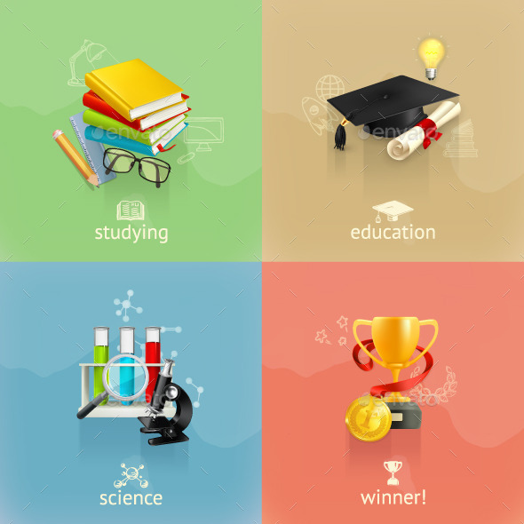 Education Illustration Concept - Miscellaneous Vectors