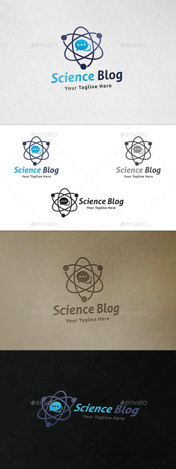 Science Blog - Logo Template - Symbols Logo Templates