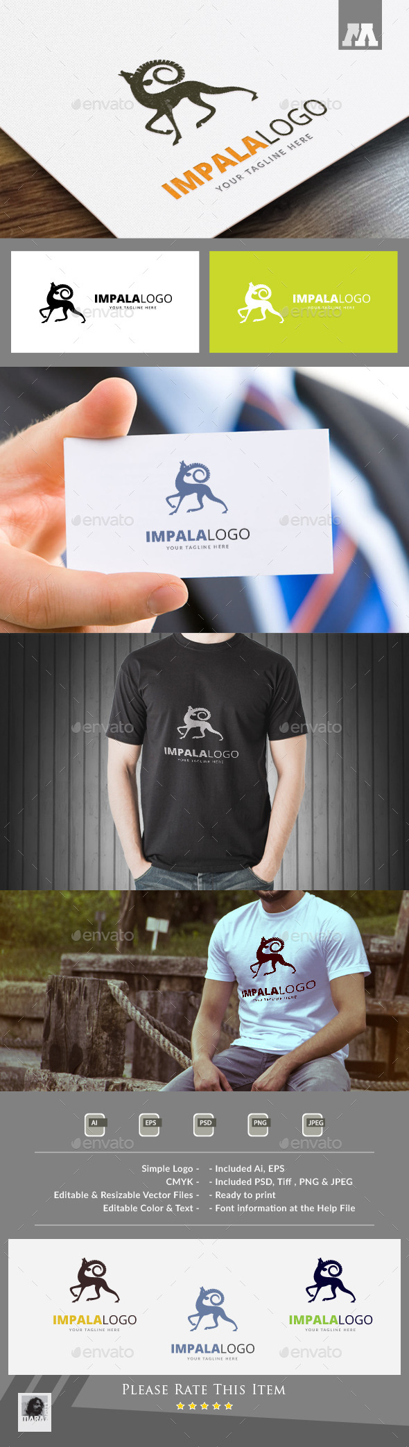 Impala Logo Template - Animals Logo Templates