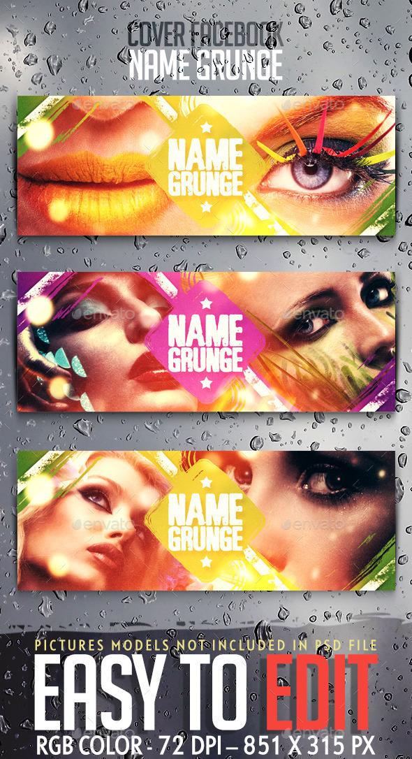 Name Grunge Cover Facebook - Facebook Timeline Covers Social Media