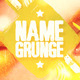 Name Grunge Cover Facebook - GraphicRiver Item for Sale