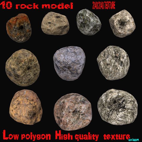 Rocks - 3DOcean Item for Sale
