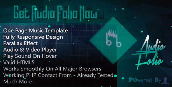 Audio Folio – One Page Music Template