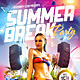 Summer Break Party Flyer Plus FB Cover - GraphicRiver Item for Sale