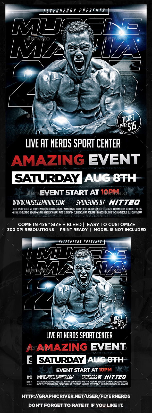 Muscle Mania 2k15 Sports Flyer - Sports Events