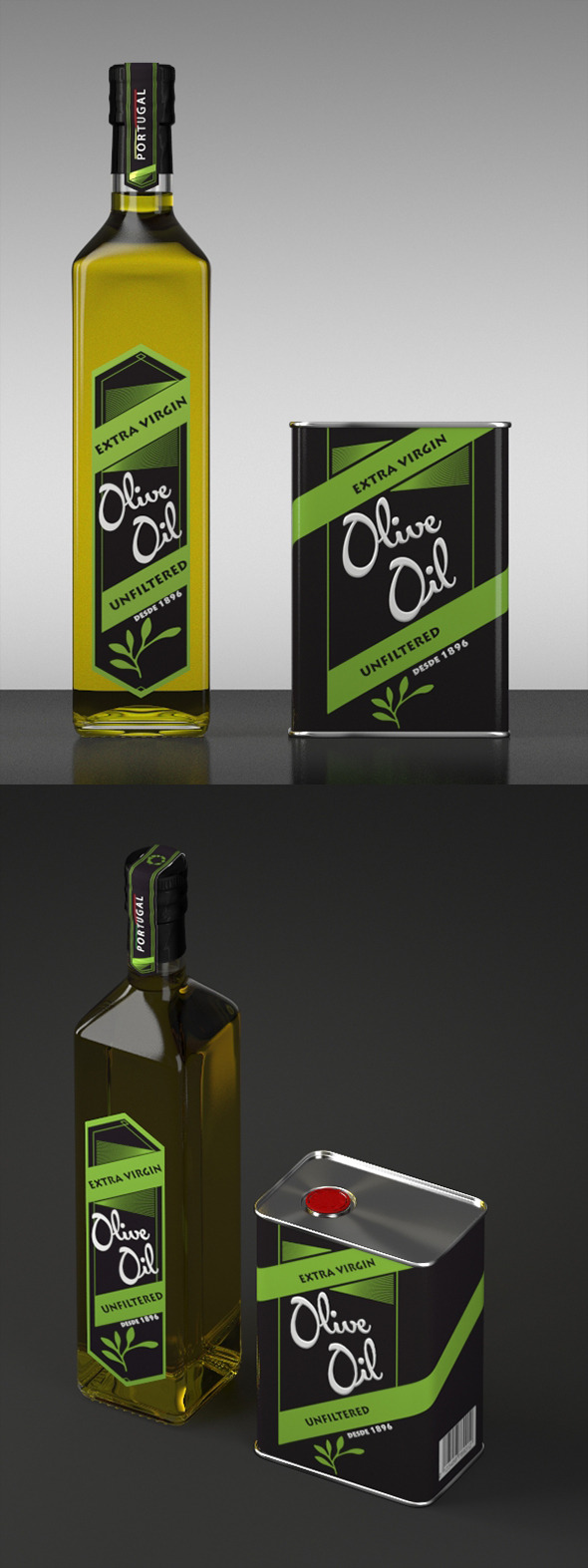 Olive Oil \\ Models and Render Scene - 3DOcean Item for Sale
