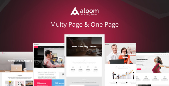 Aloom - Responsive Multi-Purpose HTML5 Template