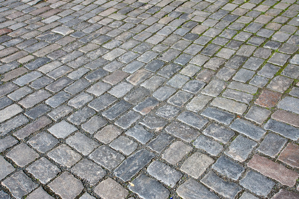 Cobble stone pavement - Stock Photo - Images