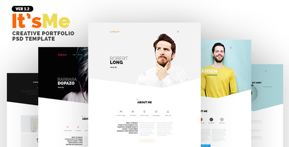 It'sMe – Creative Portfolio PSD Template