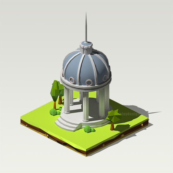 Isometric Pantheon - 3DOcean Item for Sale