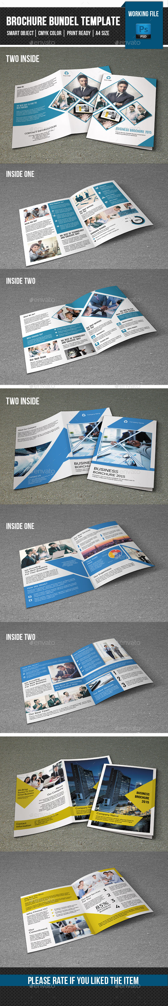 3 in 1 Business Brochure Bundle-V12 - Corporate Brochures
