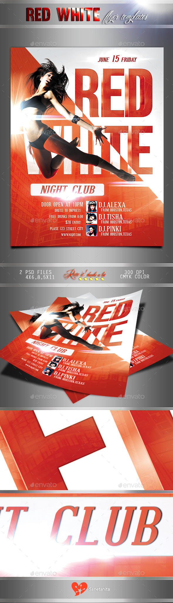 Red & White Flyer. - Clubs & Parties Events