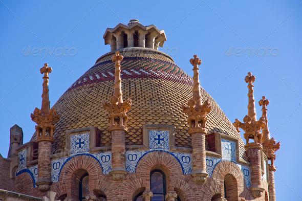 Detail of Hospital de la Santa Creu in Barcelona - Stock Photo - Images