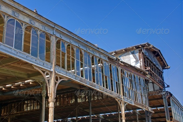 Old factory building - Stock Photo - Images