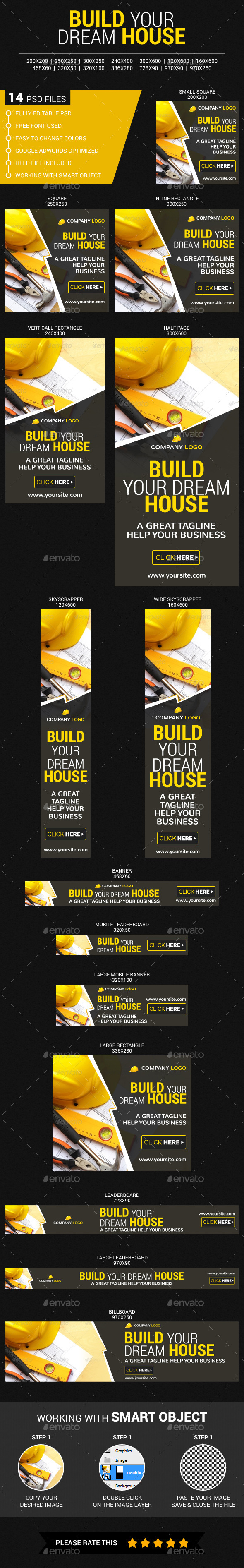 Construction - Banners & Ads Web Elements