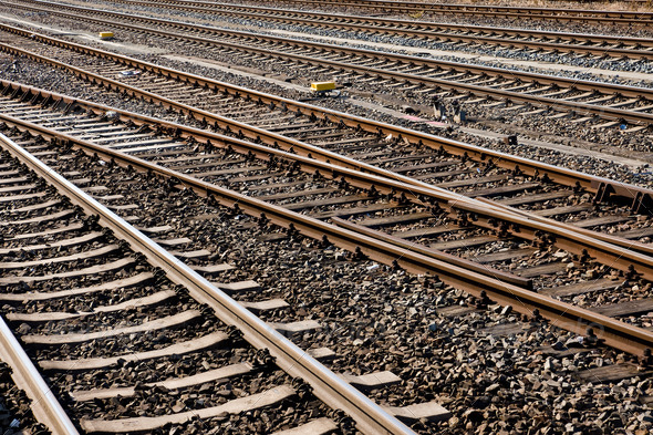 Railroad tracks - Stock Photo - Images