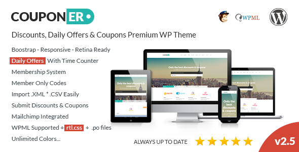 Couponer – Coupons & Discounts WP Theme