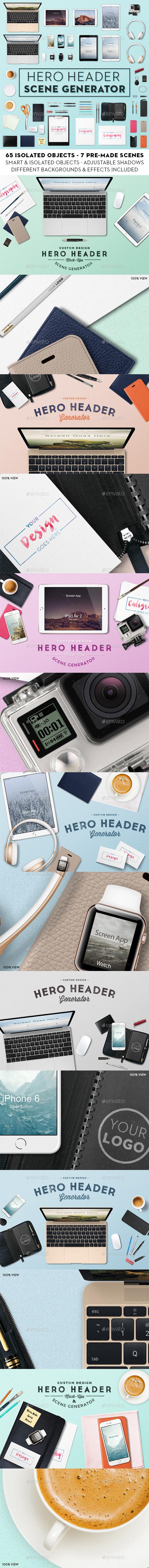 Hero Header Scene Generator - Hero Images Graphics