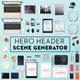 Hero Header Scene Generator - GraphicRiver Item for Sale