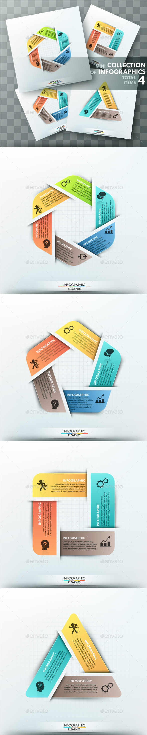 Mini Collection Of Infographics (4 Items) - Infographics