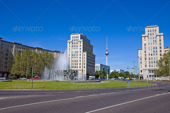 The Strausberger Platz in Berlin - Stock Photo - Images