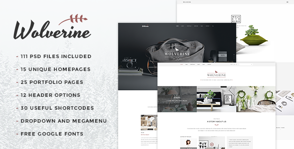 Wolverine – Multipurpose PSD Template