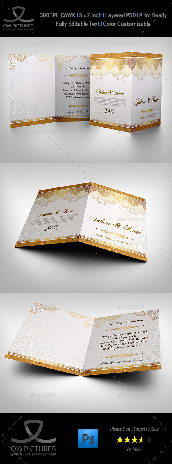 Wedding Invitation Card Template Vol.12
