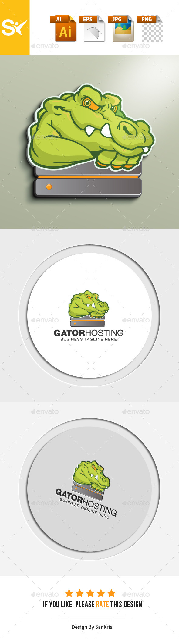 Gator Hosting Logo - Animals Logo Templates