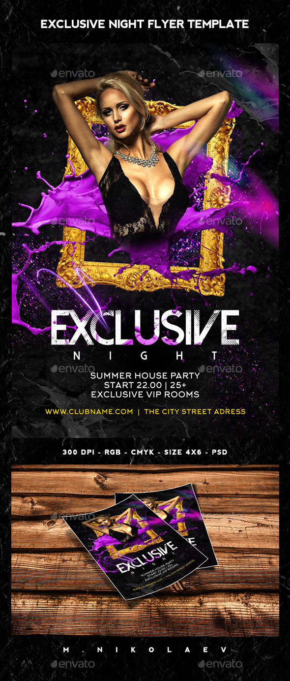Exclusive Night Flyer - Clubs & Parties Events