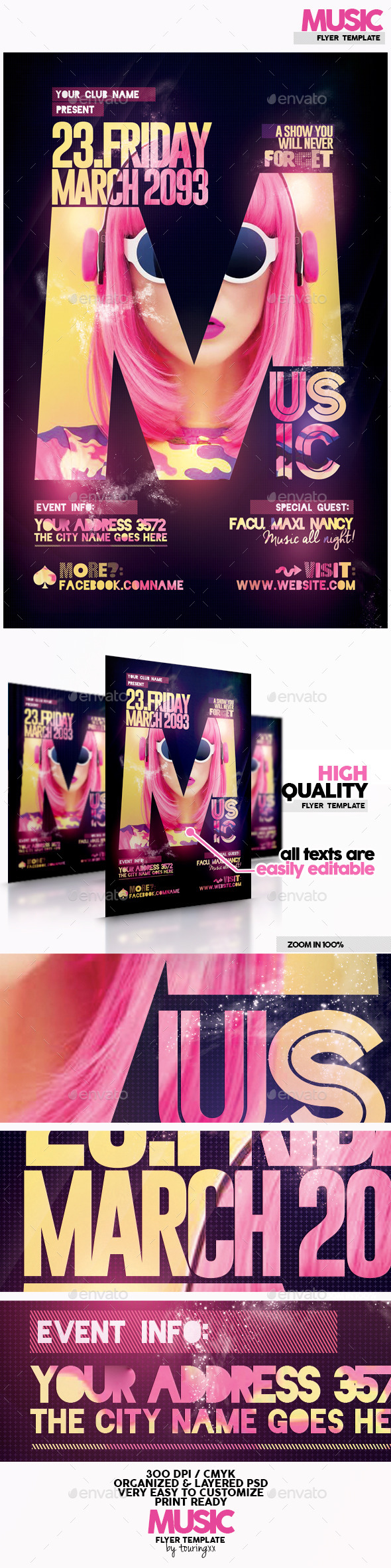 Music Flyer Template - Flyers Print Templates