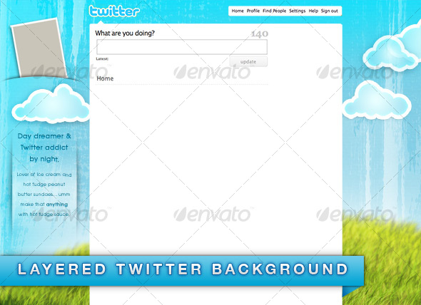 Daydreamer Twitter Background - Twitter Social Media