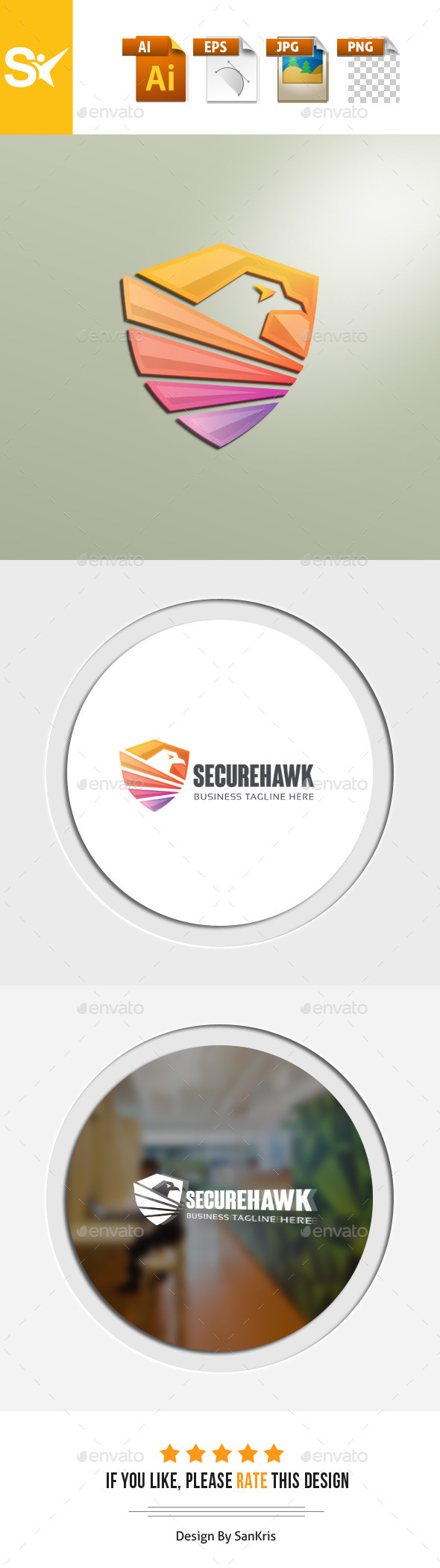 Secure Hawk Logo - Animals Logo Templates