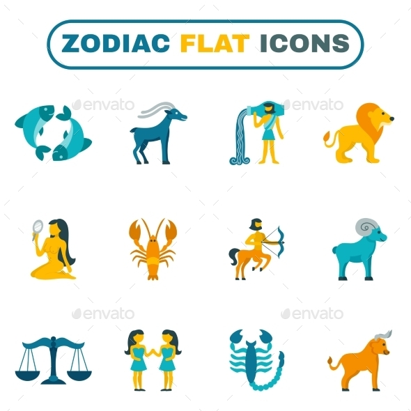 Zodiac Icon Flat - Miscellaneous Icons