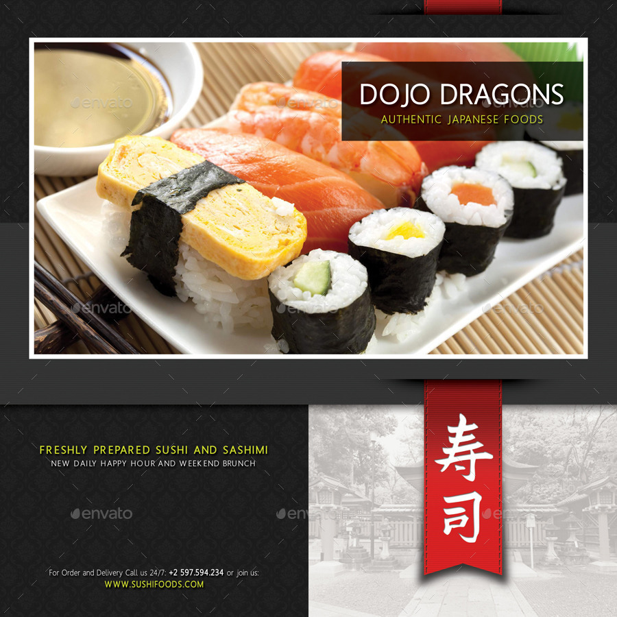 Sushi Restaurant Menu Pack