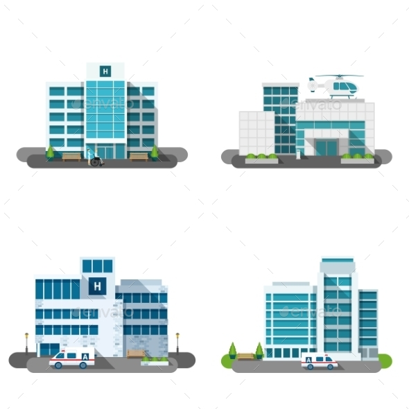 Hospital Building Set - Health/Medicine Conceptual