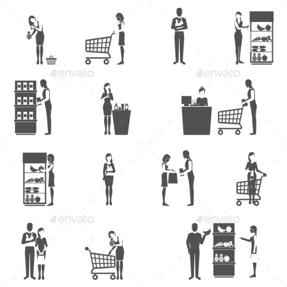 Buyer Icons Set - People Characters
