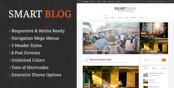 Smart Blog – WordPress Theme For Personal Blog