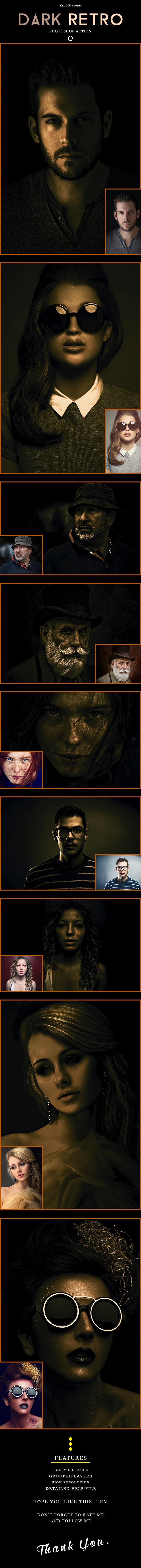 Dark Retro Action - Photo Effects Actions