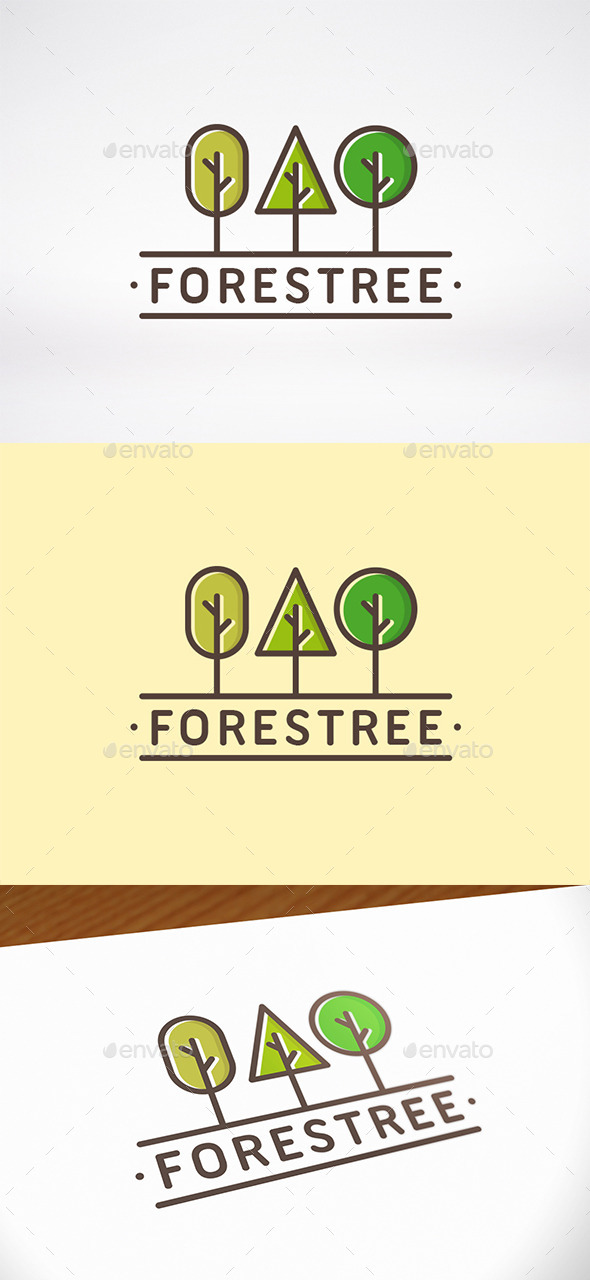 Forest Tree Logo Template - Nature Logo Templates