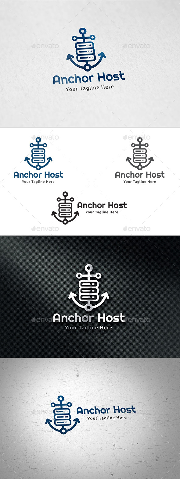 Anchor Host - Logo Template - Objects Logo Templates