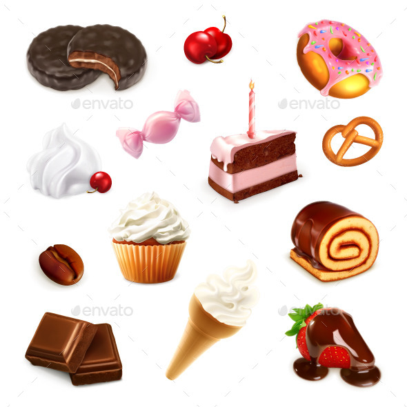 Confectionery Illustration - Food Objects
