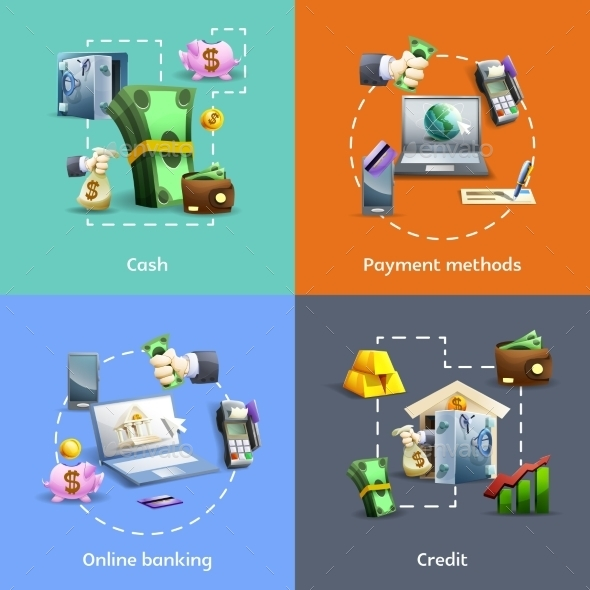 Banking And Payment Icons Set - Business Conceptual