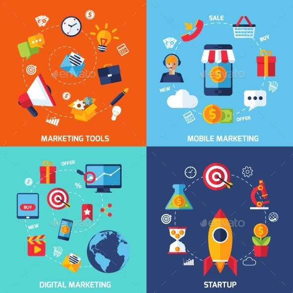 Digital Marketing Set - Concepts Business