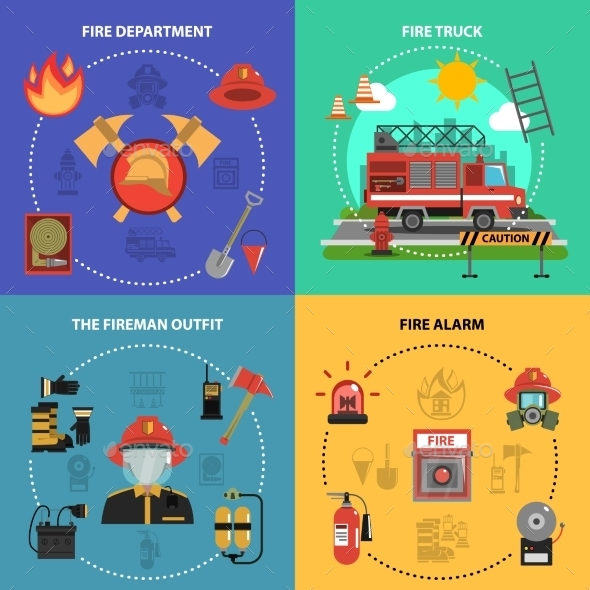 Fire Fighting Set - Miscellaneous Vectors