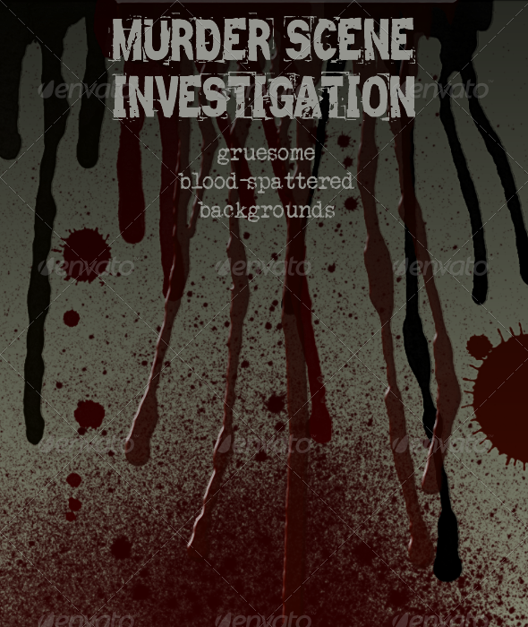 crime scene - blood spatter and dripsjoiaco | graphicriver, Modern powerpoint