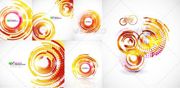 Abstract techno circles - Abstract Conceptual